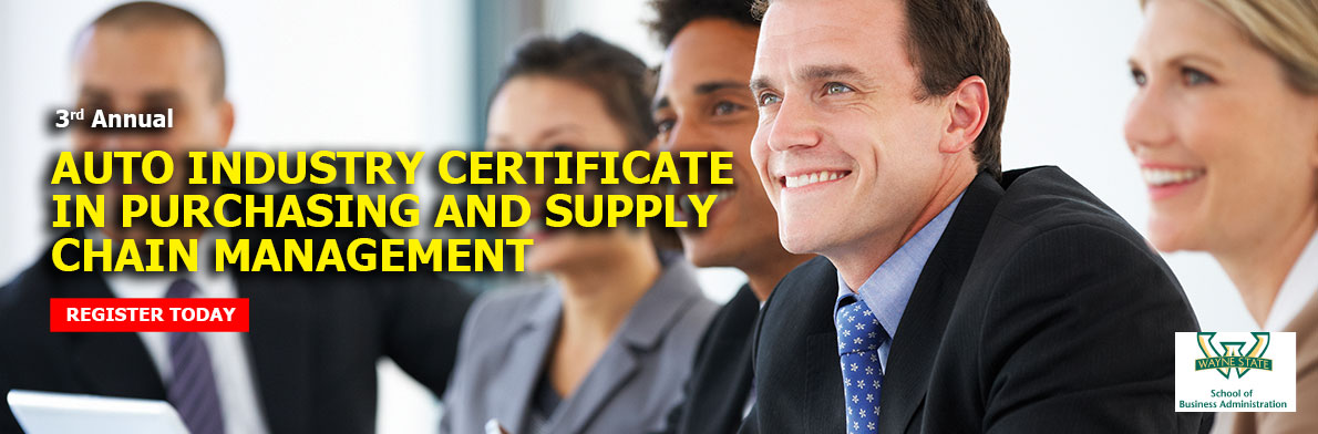 2016 AUTO INDUSTRY CERTIFICATE IN PURCHASING AND SUPPLY CHAIN MANAGEMENT