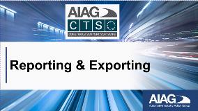 22 - Reporting and Exporting Data
